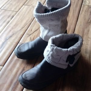 Simple Natural Leather Booties